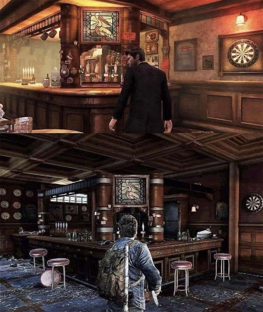 Last of Us hosts the Uncharted 3 bar