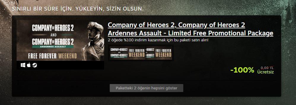 Kaçırmayın! Company of Heroes 2 Steam'de ücretsiz oldu