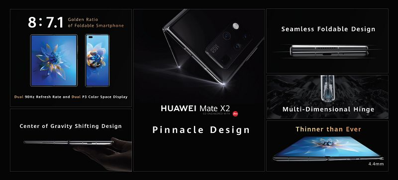 Foldable Huawei Mate X2 model introduced