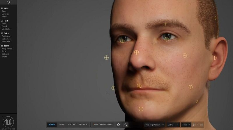 New solution to character expressions: Metahuman Creator