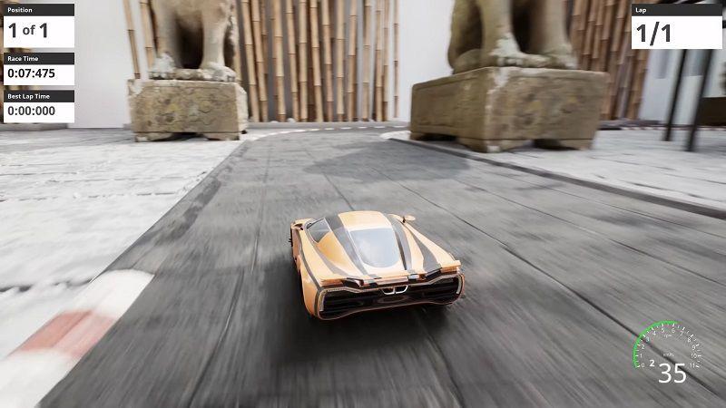 Tek kişinin yaptığı oyun Nano Racing, Unreal Engine 5 kullanıyor