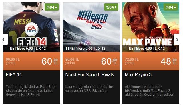 FIFA 14 ve NFS Rivals'ta Playstore indirimi