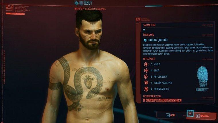 Cyberpunk 2077 karakter oluşturma nasıl?