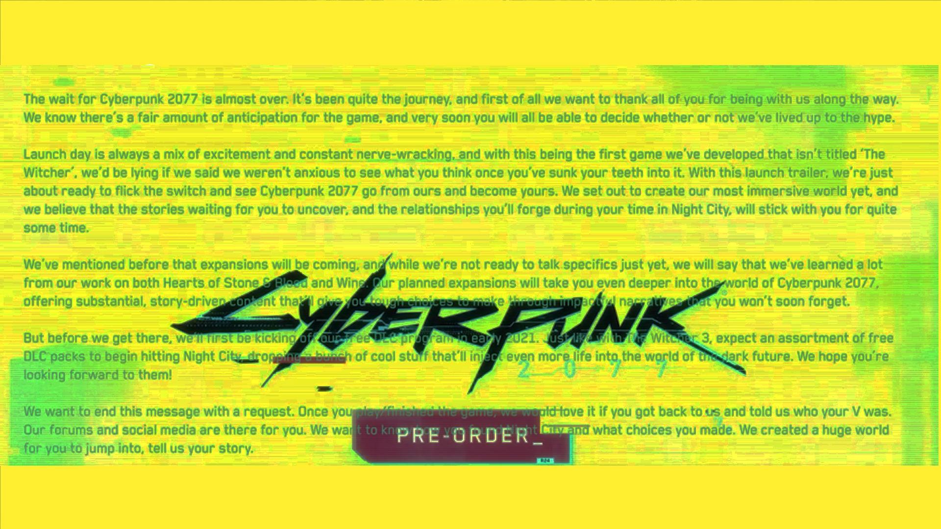 Cyberpunk 2077 fragmanı gizli mesaj içeriyor