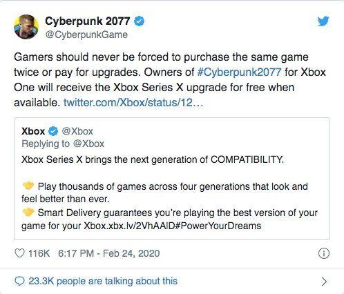 Cyberpunk 2077, Xbox One'da alana yeni nesil sürümü bedava