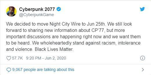Cyberpunk 2077 için planlanan Night City Wire etkinliği ertelendi