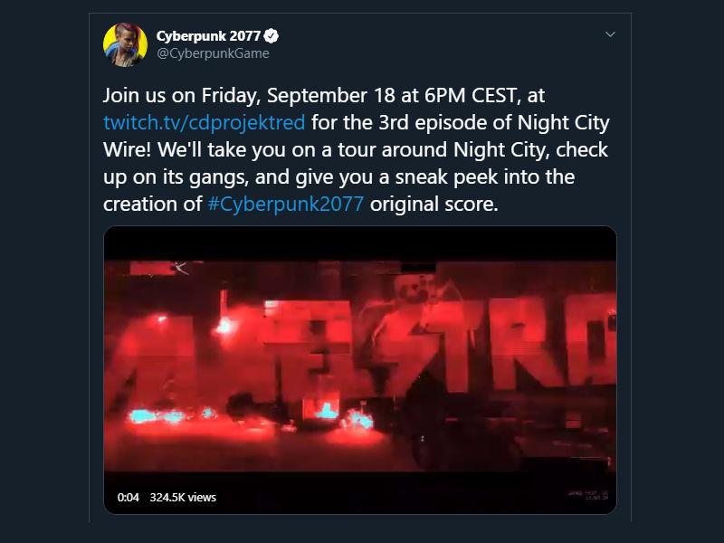 Night City Wire etkinliğinin yeni tarihi açıklandı