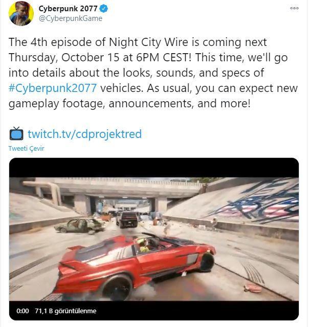 Yeni Night City Wire etkinlik tarihi duyuruldu