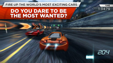 NFS: Most Wanted ilk önce mobilde