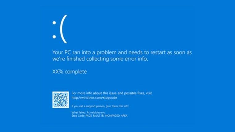 Windows 11 mavi ekran hatasında değişiklik yapılabilir