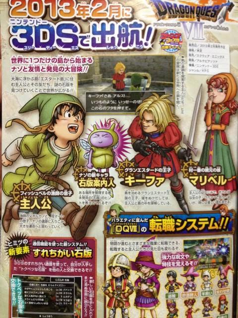 Dragon Quest VII yeni yapımın görüntüleri