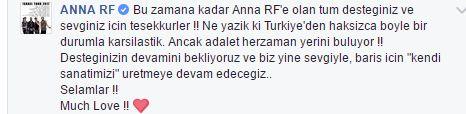 Anna RF grubu, Gece Gölgenin Rahatına Bak şarkısı için Türkçe açıklama yayınladı!