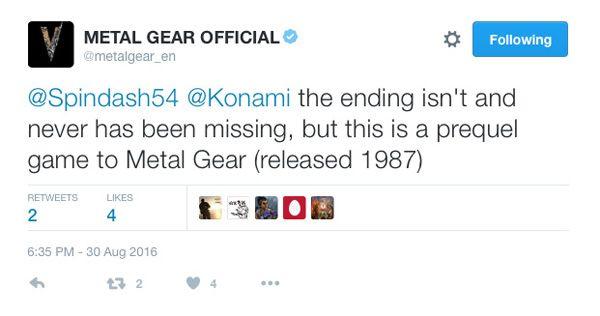 Konami'den MGSV'in 51. görevi için açıklama geldi