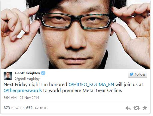 Metal Gear Online, The Game Awards'da gösterilecek!