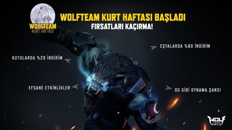 Wolfteam'in büyük indirimi Wolfteam Kurt Haftası'nda başlıyor
