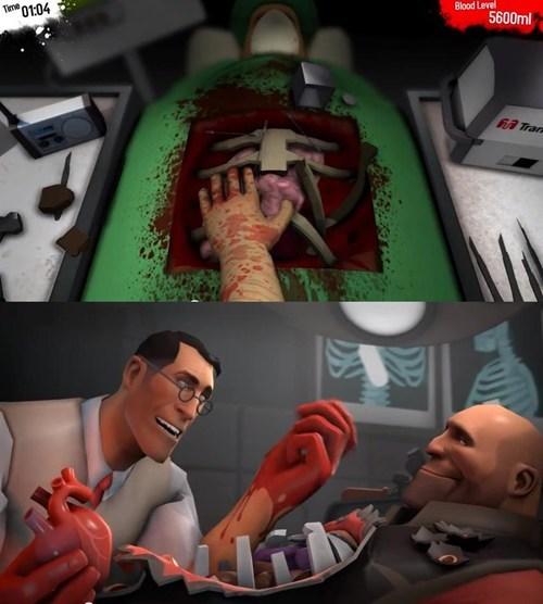 Surgeon Simulator 2013, Team Fortress 2′ye dadandı!