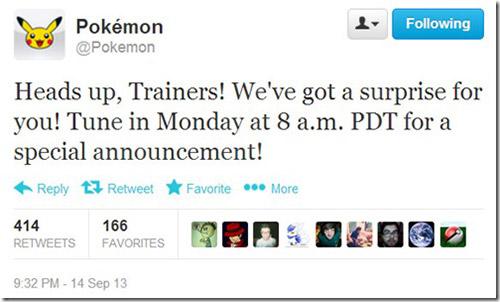 Pokemon'dan başka bir sürpriz daha
