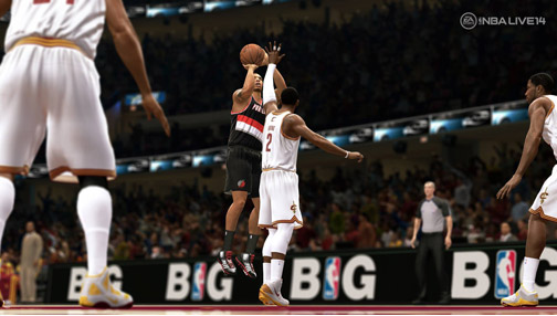NBA Live 14 iki konsolda da aynı