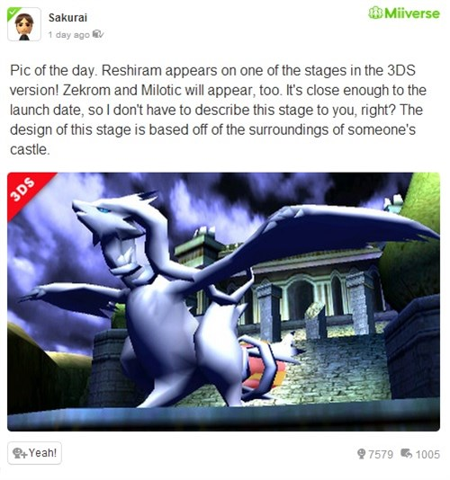 Super Smash Bros'ta Reshiram'a yol açın