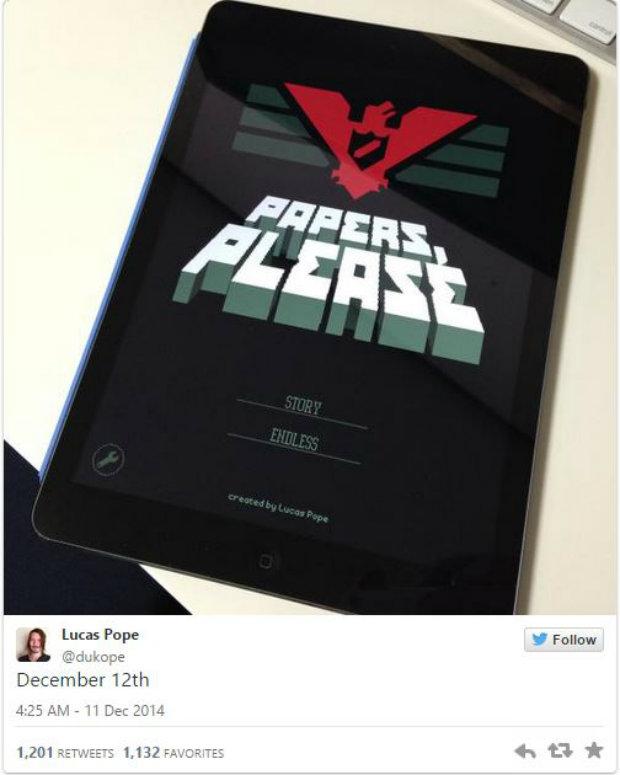 Ödüllü oyun Papers, Please, iPad için piyasaya çıkıyor