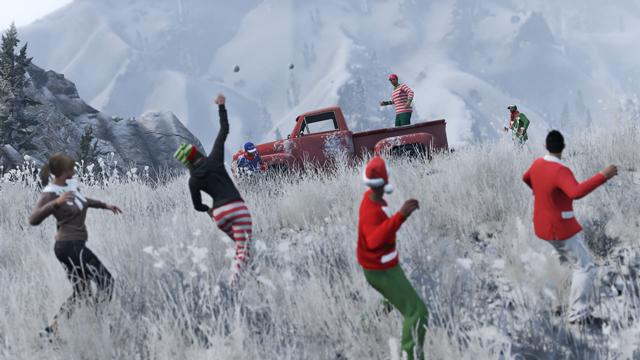 GTA Online için kar topu savaşı geliyor!