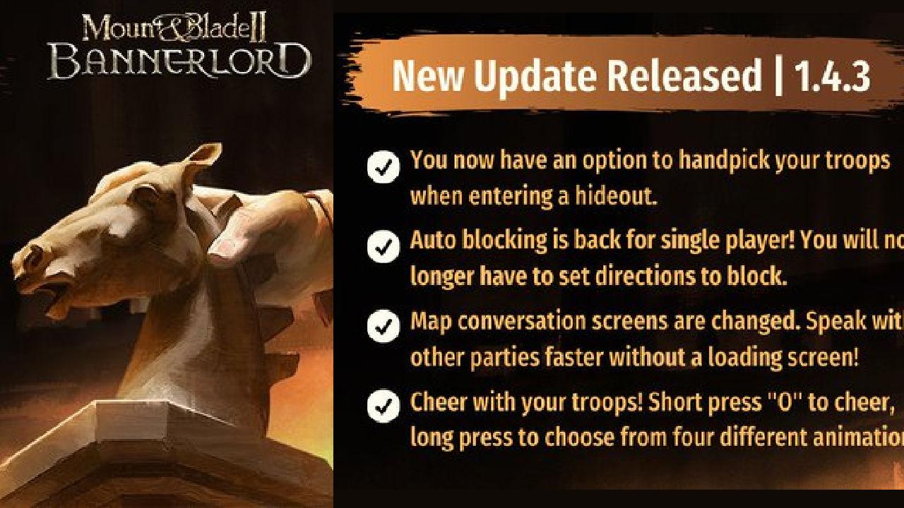 Mount & Blade II: Bannerlord yeni yama yayınlandı