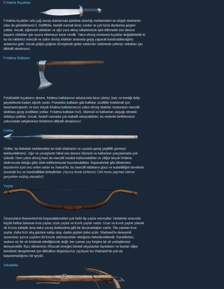 Mount & Blade II: Bannerlord'un menzilli silahları tanıtıldı