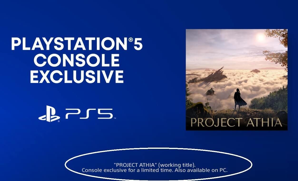 Project Athia, PlayStation 5 için duyuruldu