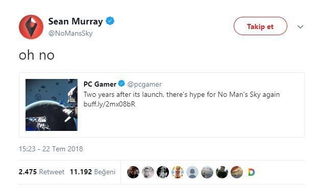 Sean Murray, No Man's Sky için yükselen beklentiden tedirgin oldu