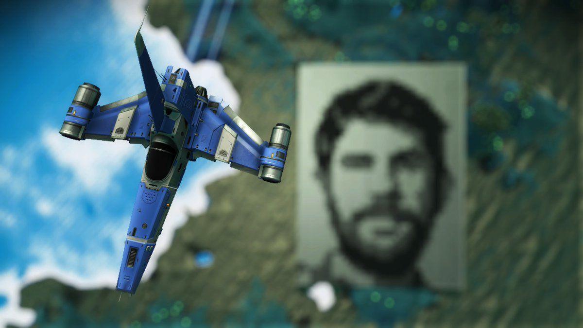 No Man's Sky'da uzaydan bile görülebilen Sean Murray portresi